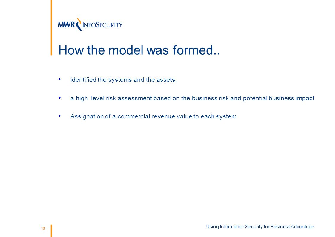19 How the model was formed..