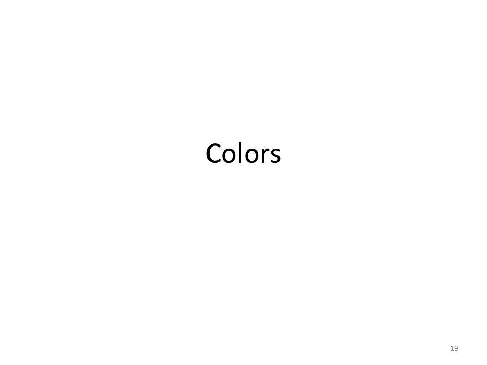 Colors 19