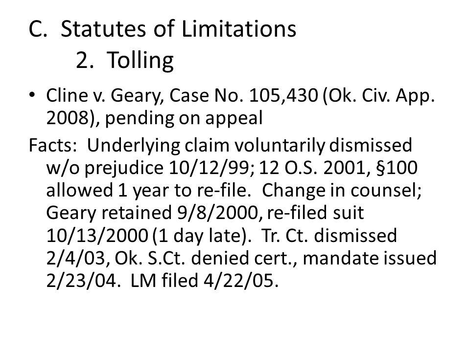 Cline v. Geary, Case No. 105,430 (Ok. Civ. App.
