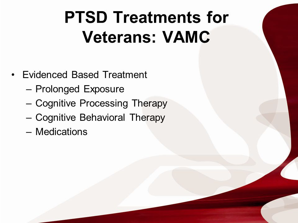 Influencing Factors for Treatment Utilization FactorsStudy Concerns that treatment will not be kept confidential Treatment will constrain future job assignments and military-career advancement Unpleasant side effects of treatment Mental health care is not effective OIF/OEF/OND feeling out of place at a VA facility Delay or difficulty in scheduling appointments Tanielian & Jaycox, 2008 Stigma and beliefs about mental health careUnited States Government Accountability Office, 2011 Lack of understanding or awareness of mental health careUnited States Government Accountability Office, 2011 Logistical challenges to accessing mental health careUnited States Government Accountability Office, 2011 Concerns about VA's health careUnited States Government Accountability Office, 2011 Clinic of first mental health diagnosis and distance from VA facility Seal et al., 2010 Type and complexity of mental health diagnosis Seal et al., 2010 Unstable housing, financial distress, unemployment or underemployment, divorce or separation Jakupcak & Varra, 2011