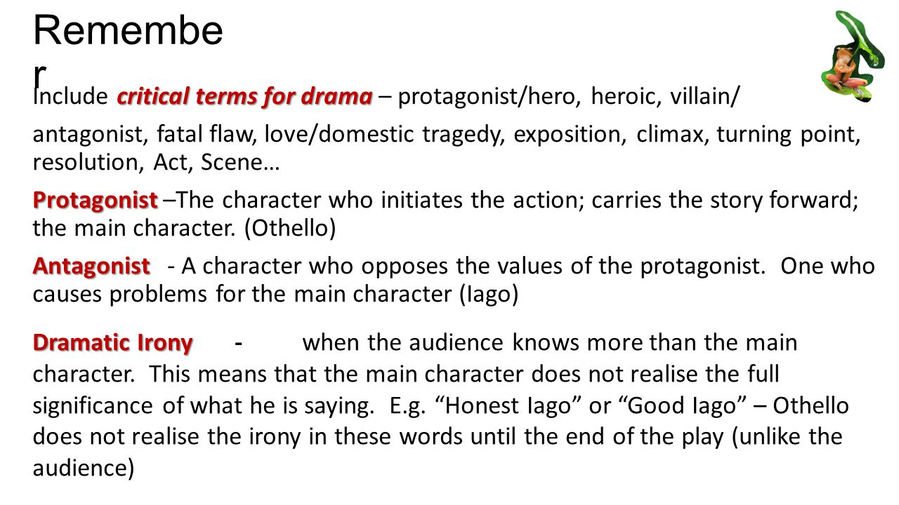 othello the tragic hero essay Othello is the one at fault for the terrible events in the play in order to fully understand what a tragedy is one must understand the characteristics of what a tragedy and a tragic hero is according to aristotle aristotle indicates that in order to be a tragic hero is not perfect the character is fallible.