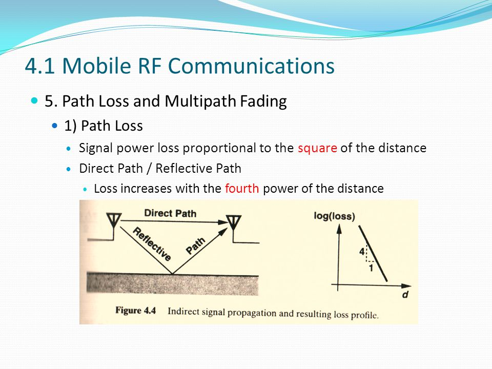 4.1 Mobile RF Communications 5.