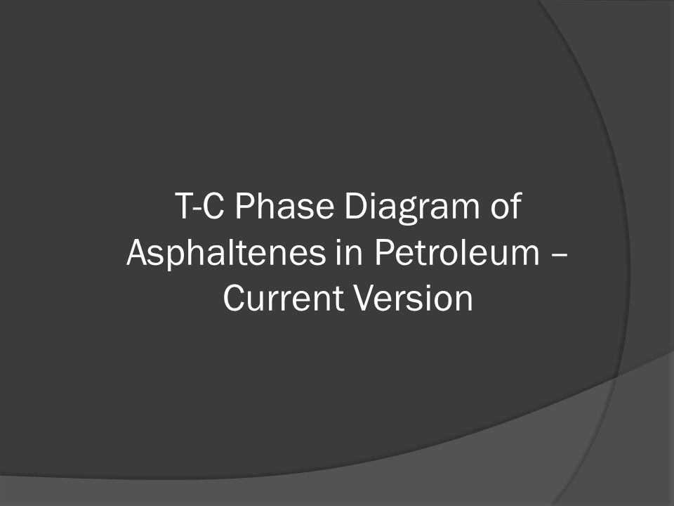 T-C Phase Diagram of Asphaltenes in Petroleum – Current Version