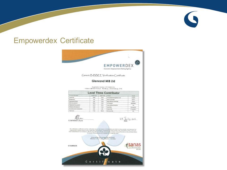 Empowerdex Certificate