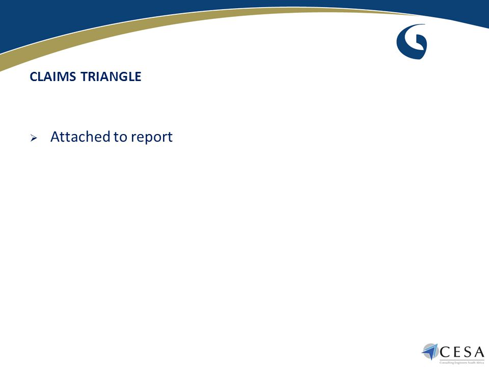 CLAIMS TRIANGLE  Attached to report