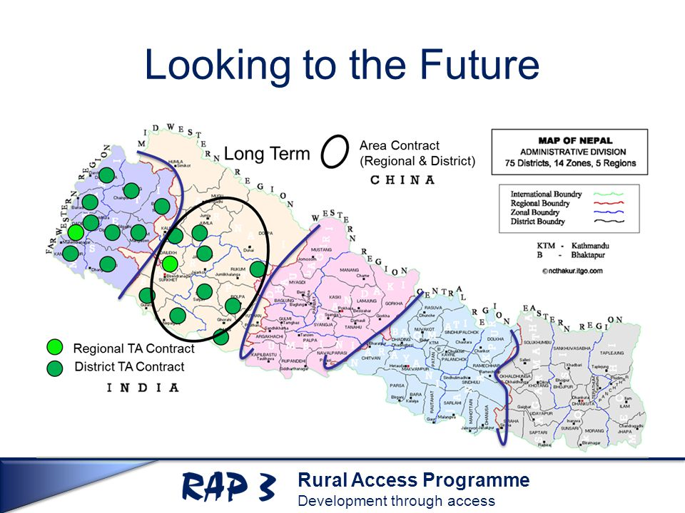 Rural Access Programme Development through access Looking to the Future