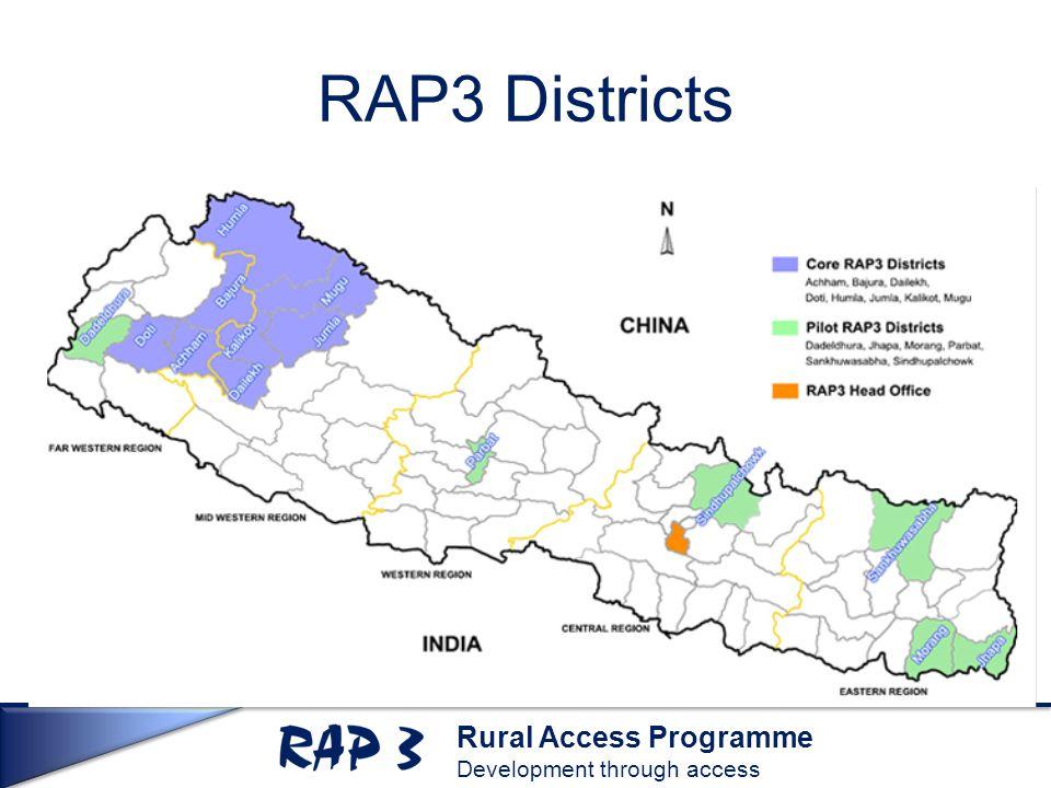 Rural Access Programme Development through access RAP3 Districts