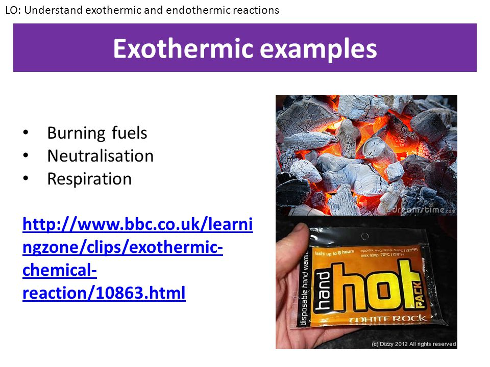 Exothermic reactions An exothermic reaction is one that transfers energy FROM the reacting chemicals TO the surroundings. More simply, it's a reaction