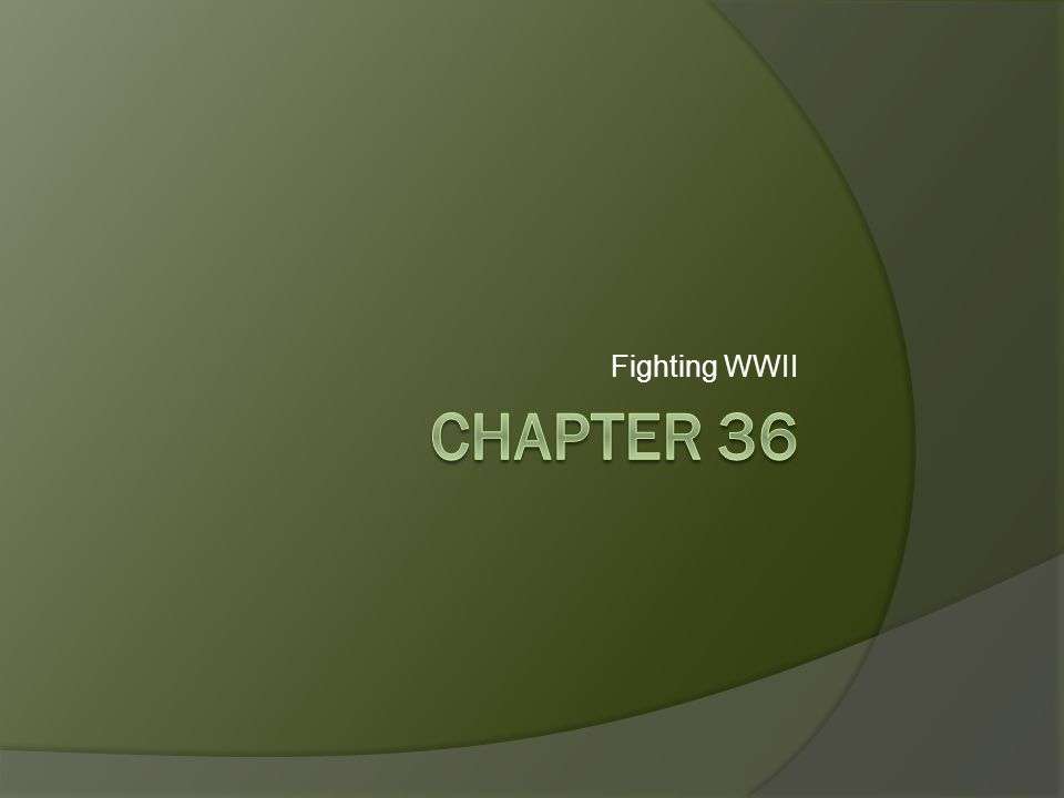 Fighting WWII