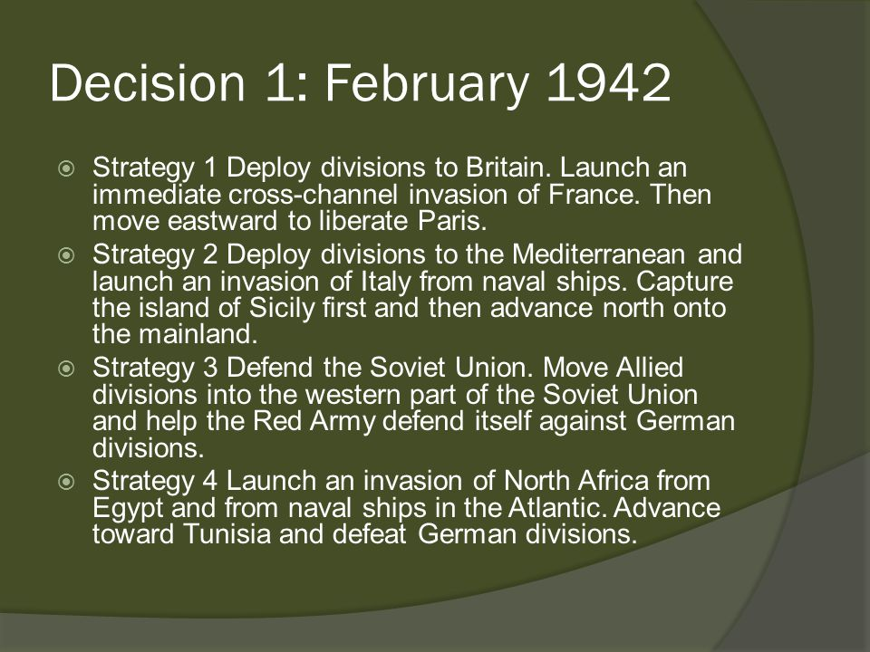 What Really Happened  Churchill wanted the Allies to strike North Africa first.