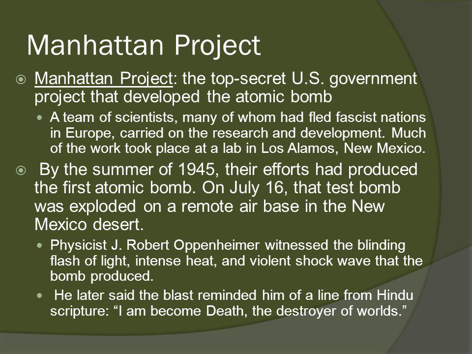 Manhattan Project  Manhattan Project: the top-secret U.S.