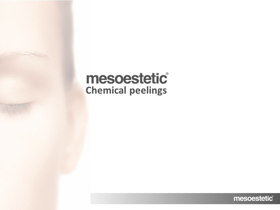 MENU Chemical peelings