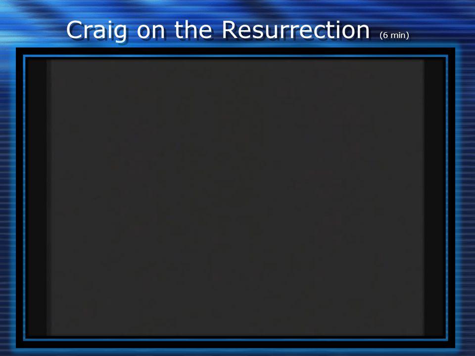 Craig on the Resurrection (6 min)