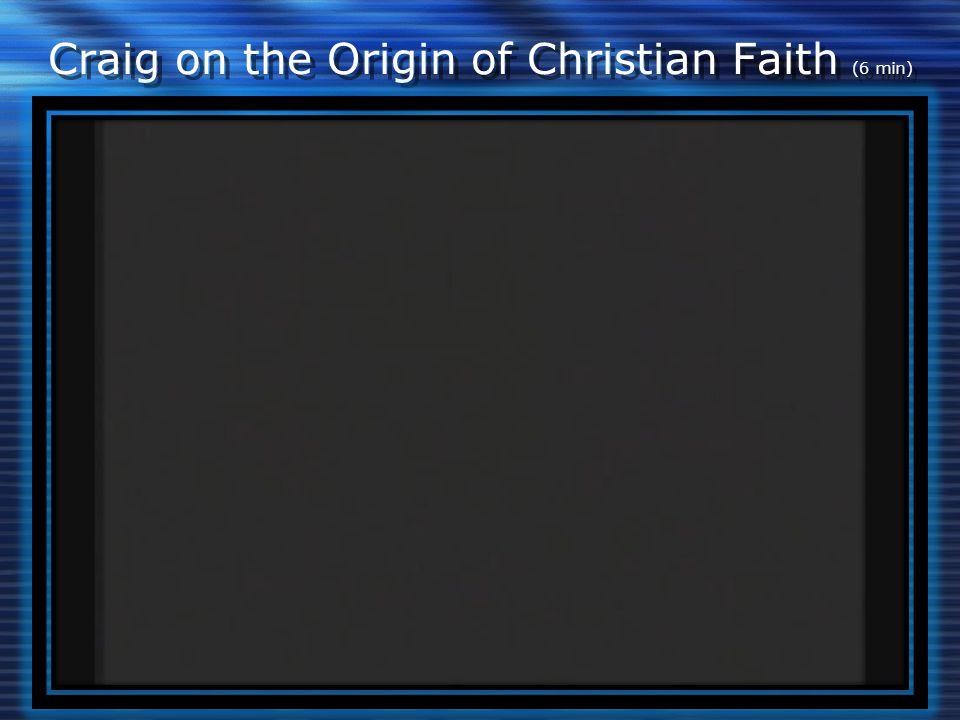 Craig on the Origin of Christian Faith (6 min)