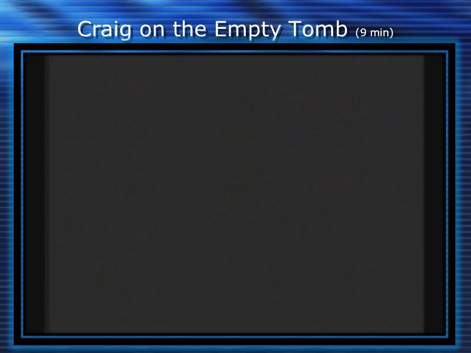 Craig on the Empty Tomb (9 min)
