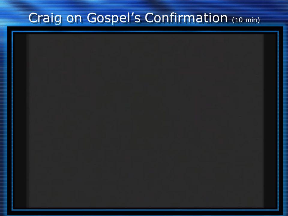 Craig on Gospel's Confirmation (10 min)