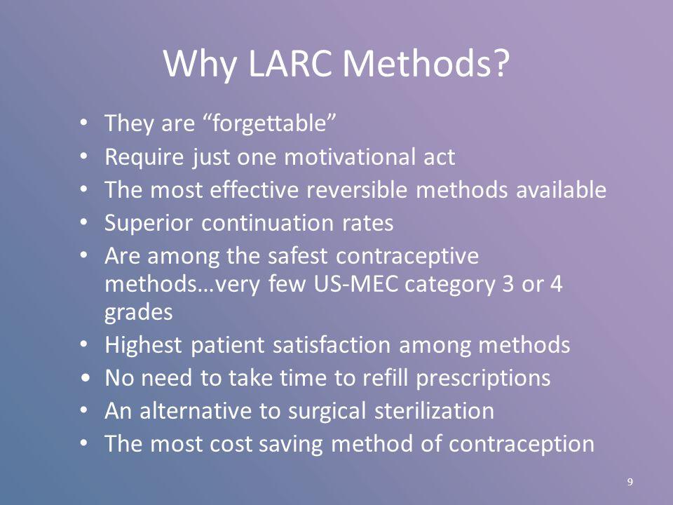 10 Contraceptive Efficacy Top Tier: Most Effective Female/male sterilization; IUC, Implant Middle Tier: Effective DMPA, Oral Contraceptive (OC), Patch, Ring Bottom Tier: Less Effective Barriers, Spermicides, Behavioral methods