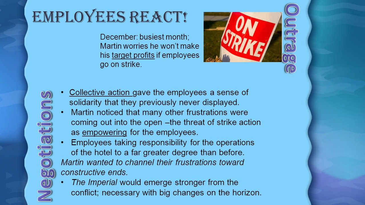 November, 2013 GUTHONI: Housekeeping Department employee frequently calling in sick and did not come to work.