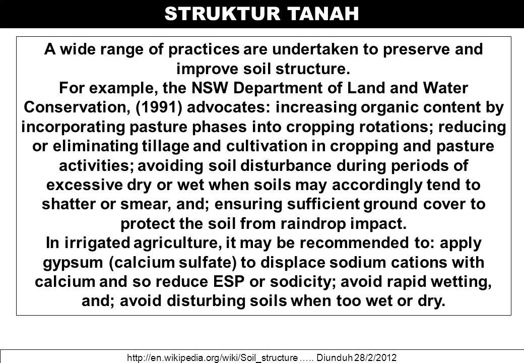 STRUKTUR TANAH http://en.wikipedia.org/wiki/Soil_structure …..