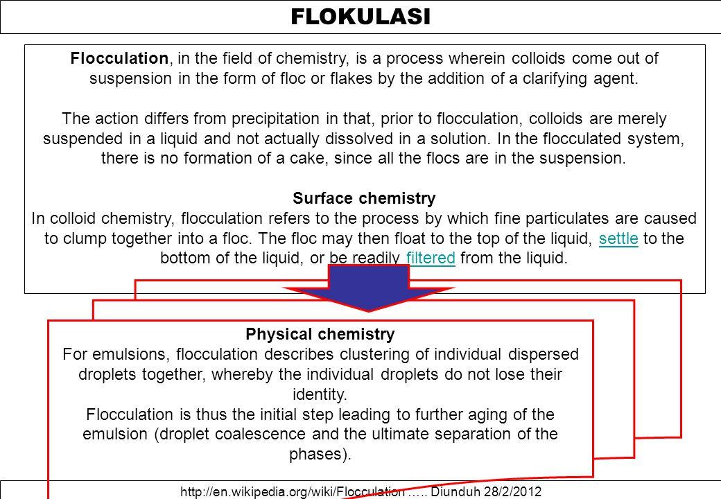FLOKULASI http://en.wikipedia.org/wiki/Flocculation …..
