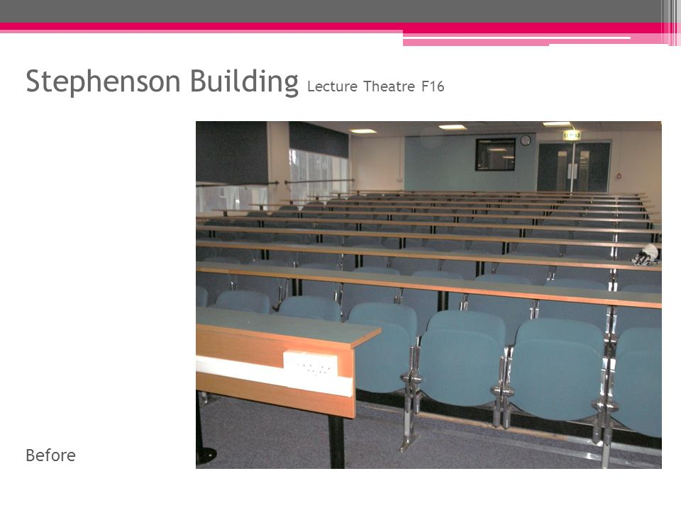 Stephenson Building Lecture Theatre F16 After