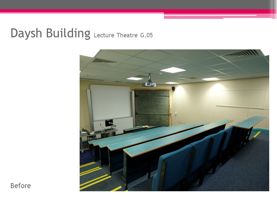 Daysh Building Lecture Theatre G.05 After