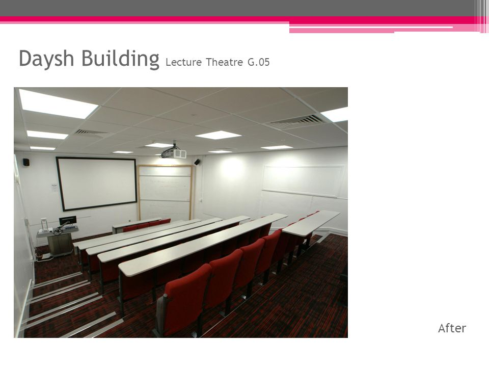 Daysh Building Lecture Theatre G.07 Before