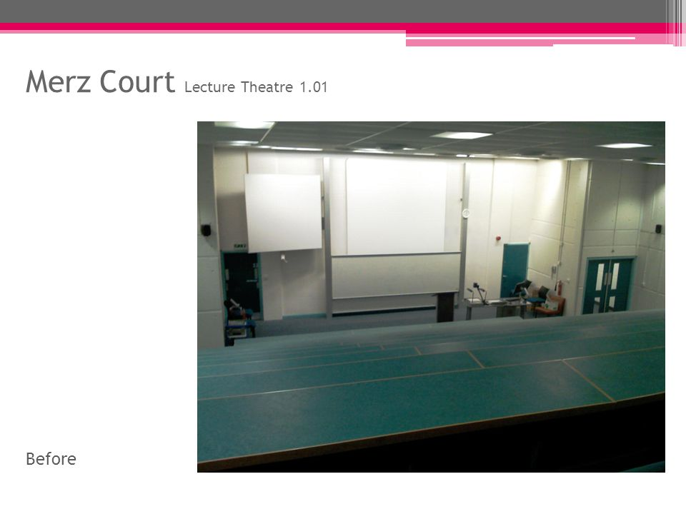 Merz Court Lecture Theatre 1.01 Before