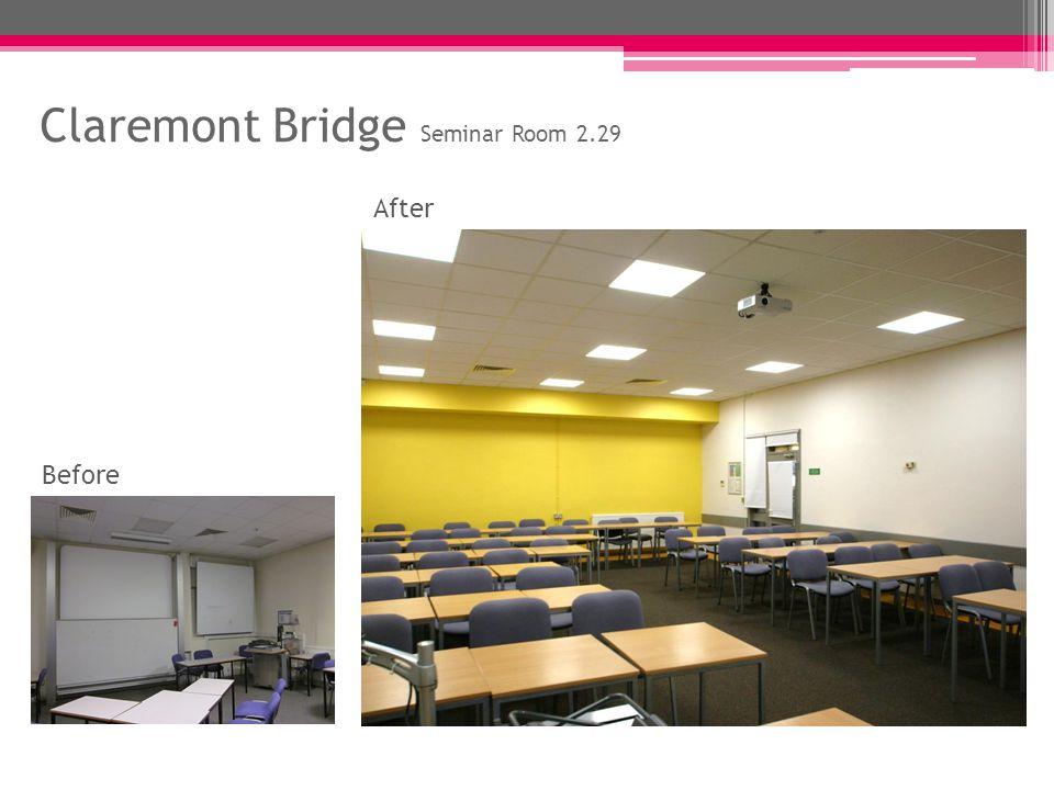 Claremont Bridge Seminar Room 2.29 Before After