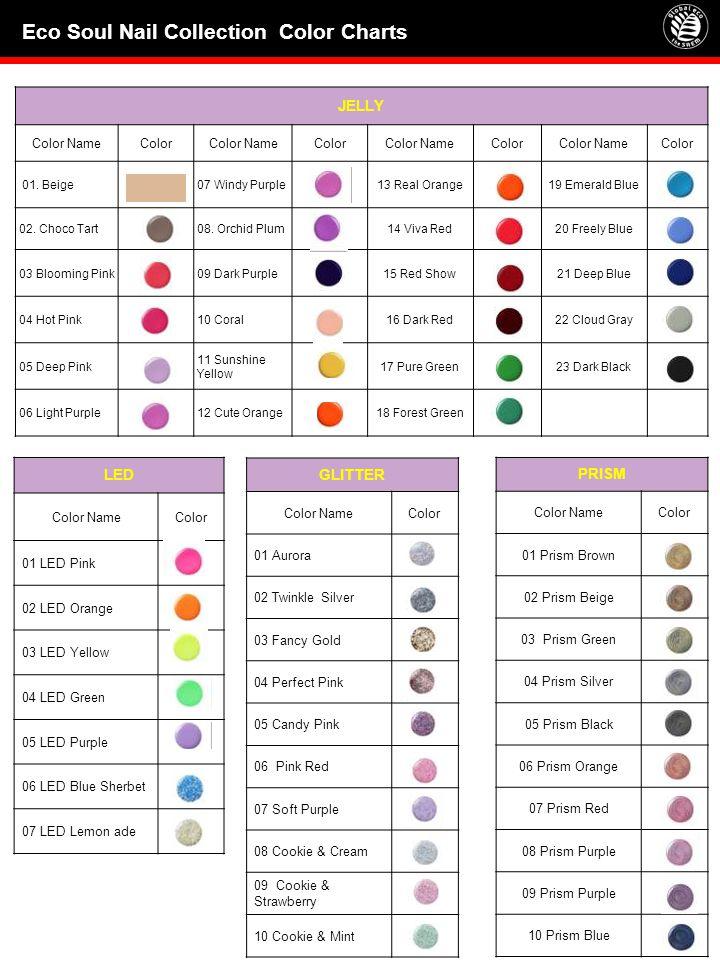 JELLY Color NameColorColor NameColorColor NameColorColor NameColor 01. Beige07 Windy Purple13 Real Orange19 Emerald Blue 02. Choco Tart08. Orchid Plum