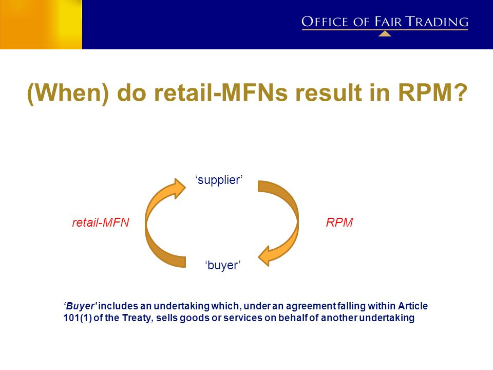 (When) do retail-MFNs result in RPM.