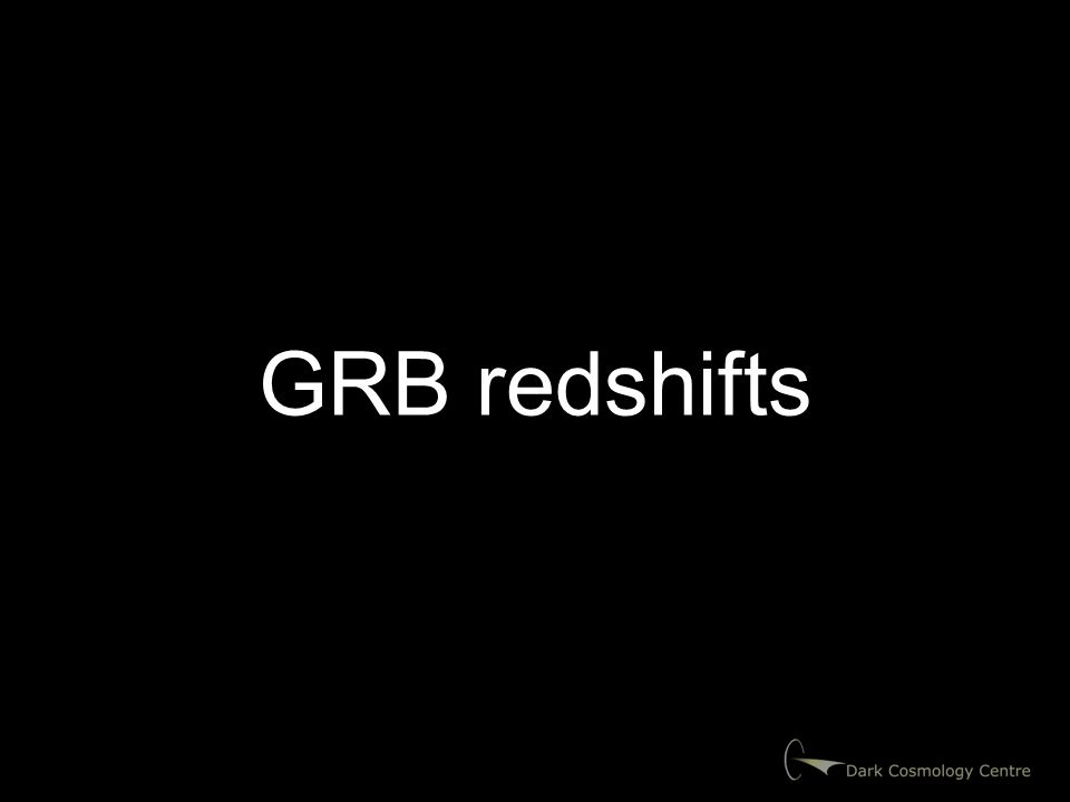 GRB redshifts