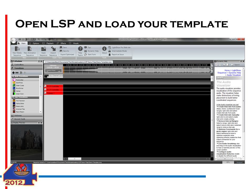 Open LSP and load your template