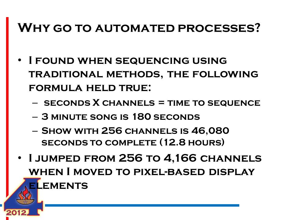 Why go to automated processes.