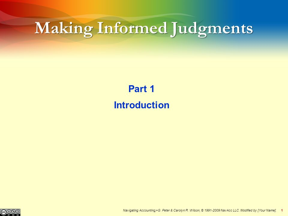 2Menu  Why should you learn how to make informed judgments.