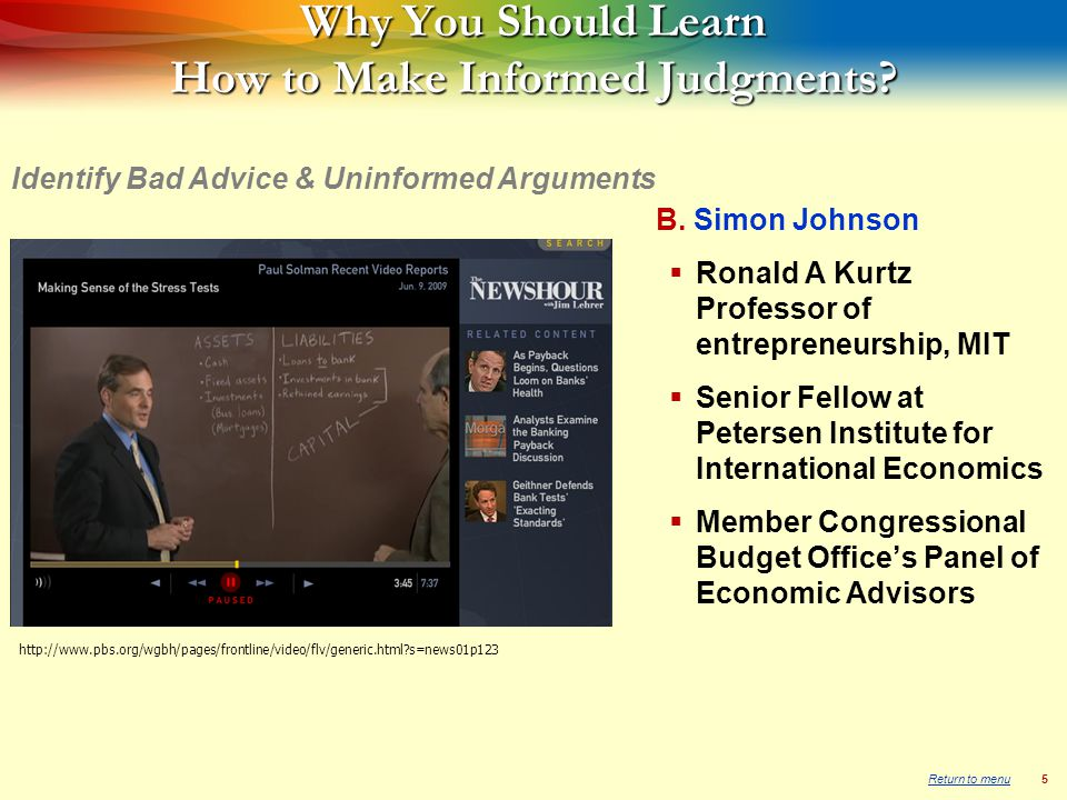 6 Chris Whalen  Vice President and Managing Director, Institutional Risk Analytics  Appeared before the US Congress and SEC to testify on various issues  Appears regularly on venues such as Bloomberg Television and CNBC Identify Bad Advice & Uninformed Arguments http://www.pbs.org/wgbh/pages/frontline/video/flv/generic.html?s=news01p123 www.institutionalriskanalytics.com Mr.