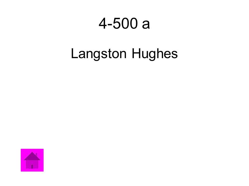 4-500 a Langston Hughes