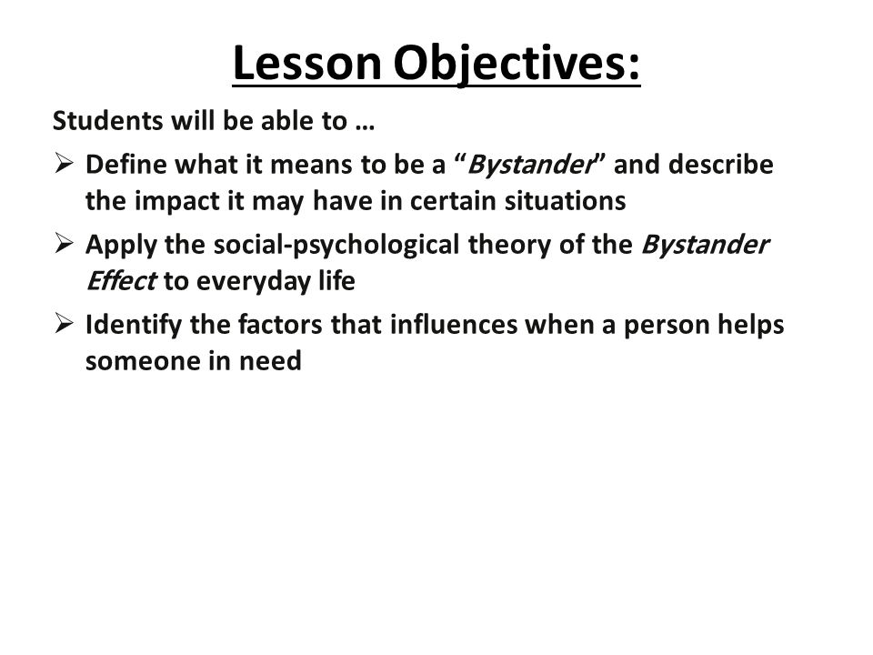 Bystander Test Instructions: Read each of the following four (4) scenarios and try to imagine being present in each situation.