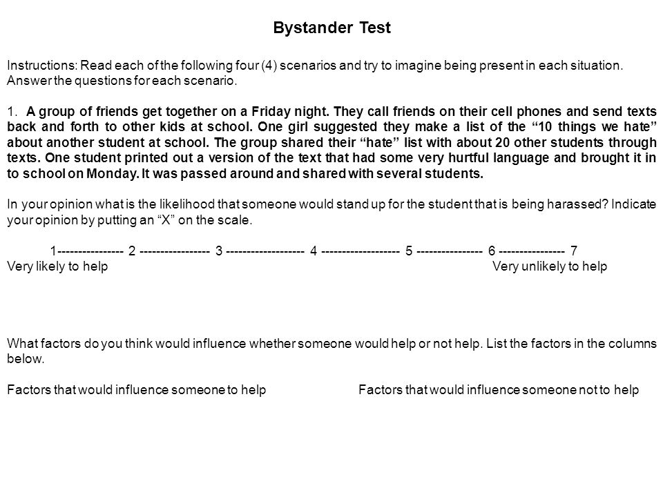 Bystander Test A young lady walks into the cafeteria at lunch.