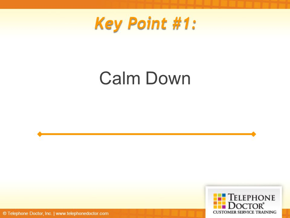 © Telephone Doctor, Inc. | www.telephonedoctor.com Key Point #8: You Don't Understand