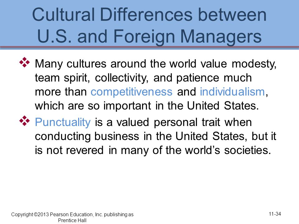 Cultural Differences between U.S.