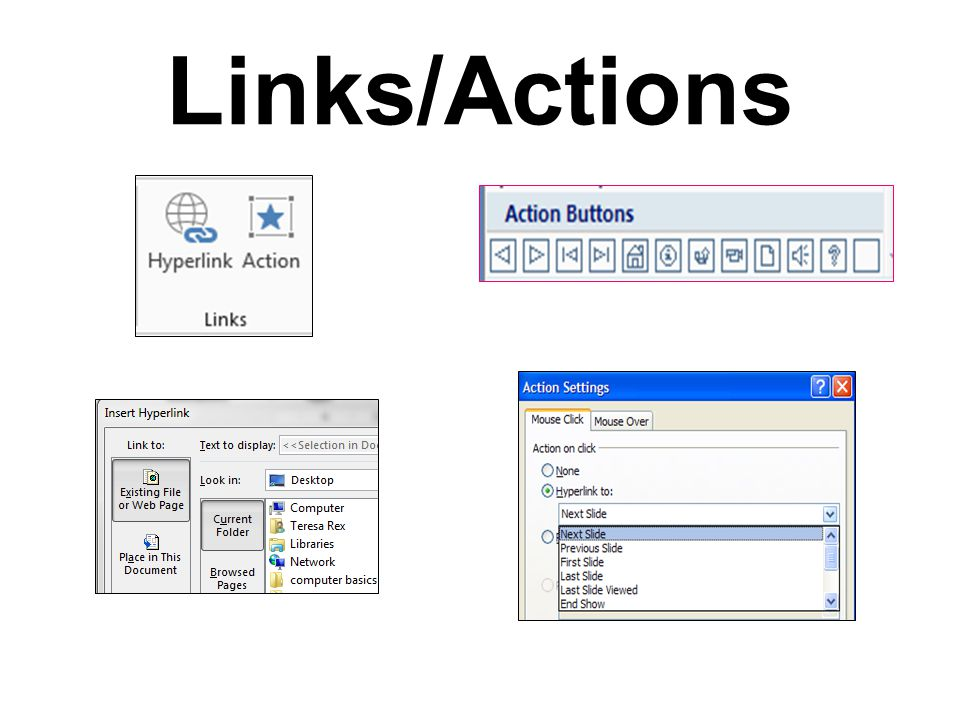 Links/Actions