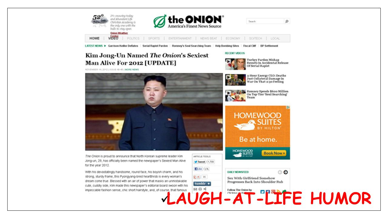 LAUGH-AT-LIFE HUMOR