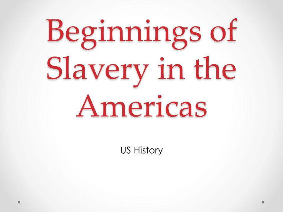 Beginnings of Slavery in the Americas US History