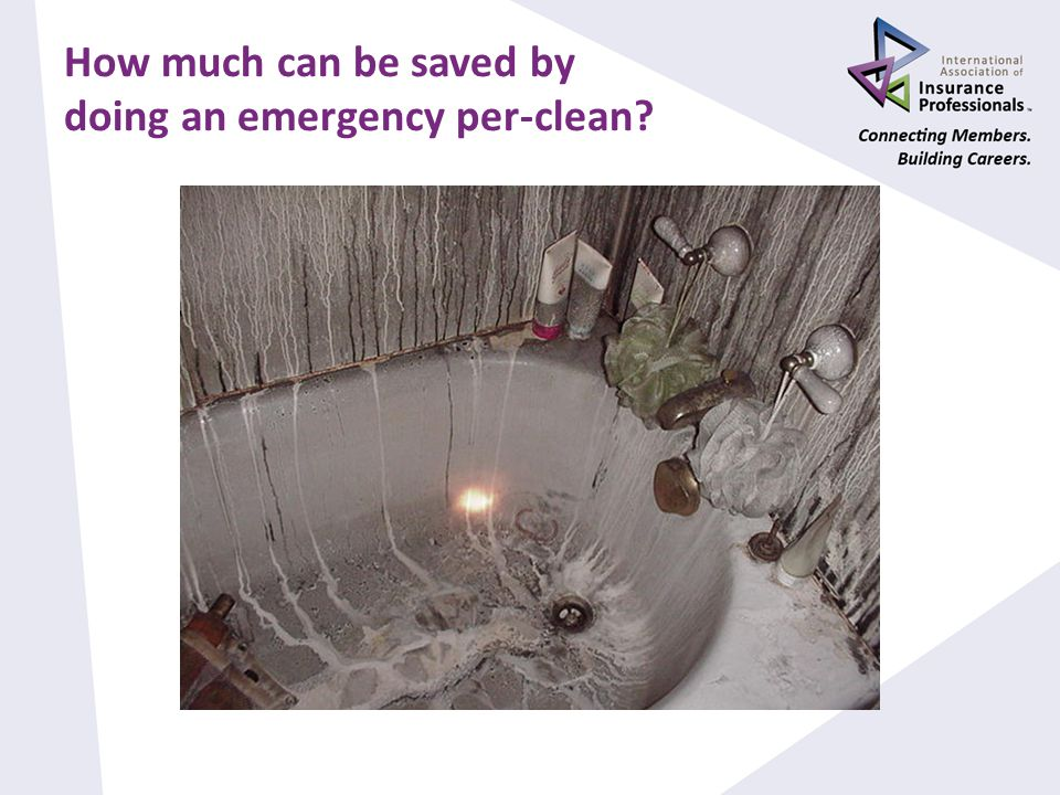 How much can be saved by doing an emergency per-clean
