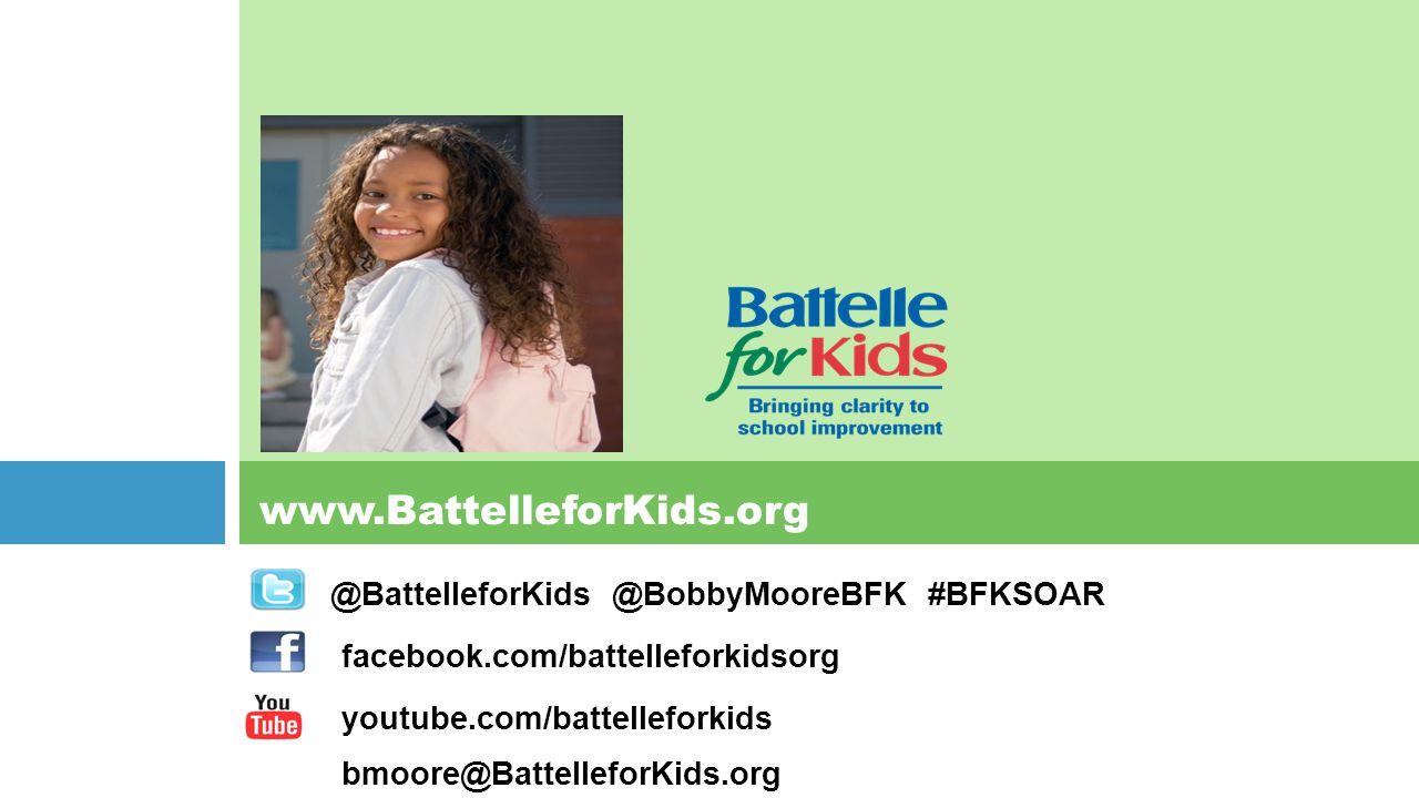 @BattelleforKids @BobbyMooreBFK #BFKSOAR facebook.com/battelleforkidsorg youtube.com/battelleforkids bmoore@BattelleforKids.org www.BattelleforKids.or