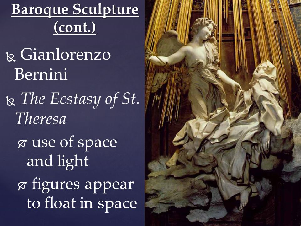   Gianlorenzo Bernini   The Ecstasy of St.