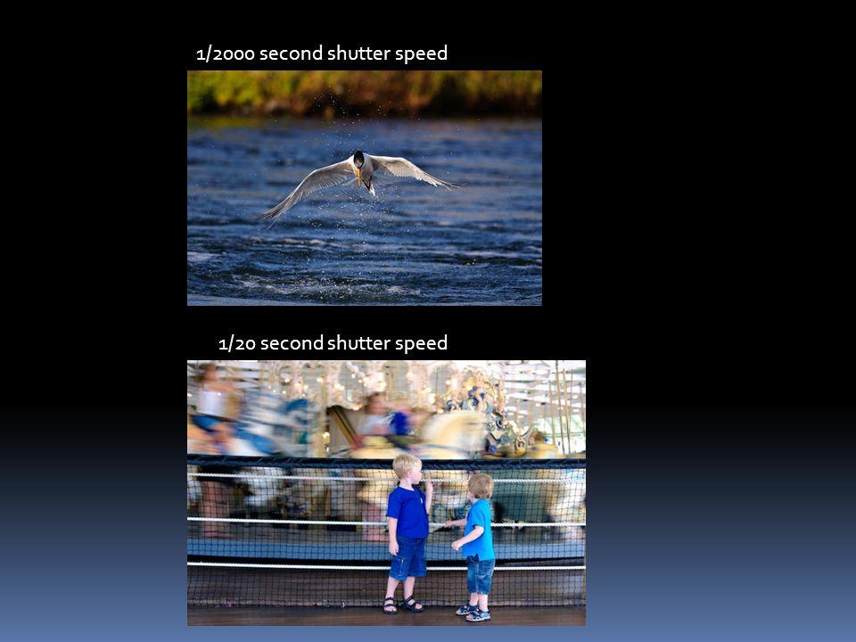 1/2000 second shutter speed 1/20 second shutter speed