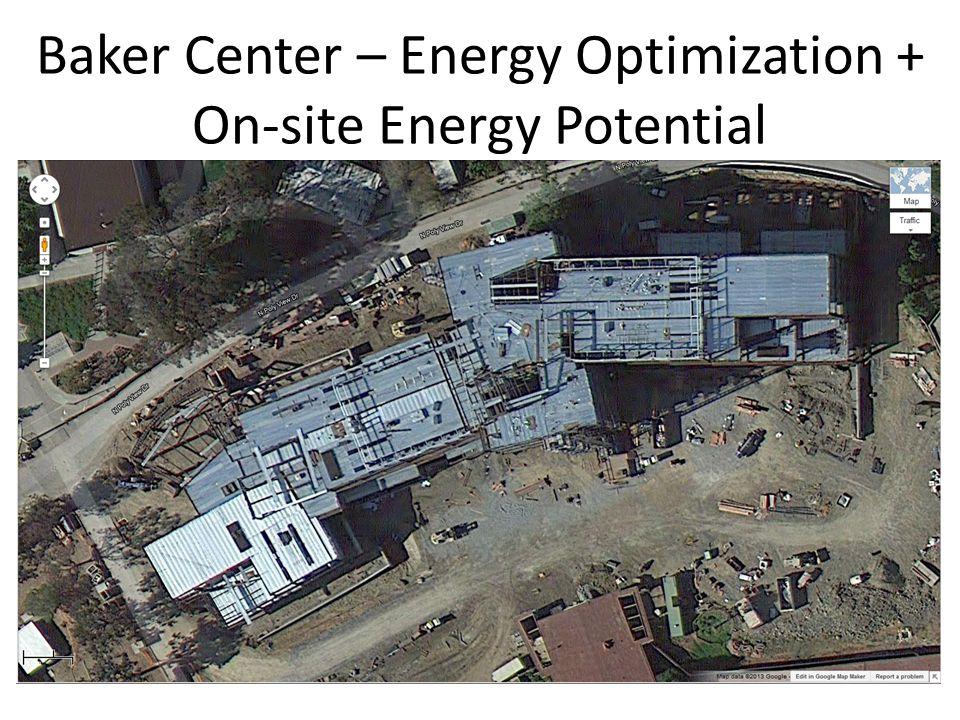 CHESC 2014 / Cal Poly, San Luis Obispo Baker Center – Energy Optimization + On-site Energy Potential