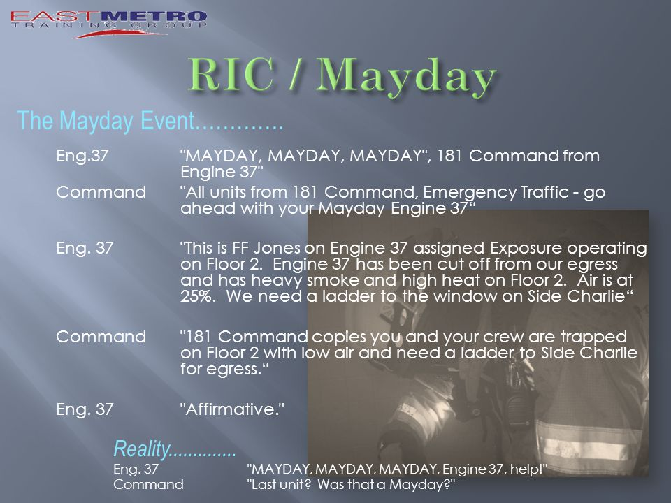 The Mayday Event………….